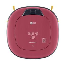 LG Hom-Bot Square VR86010RR Dual Eye 2.0™, Daily Carpet Care+ červený