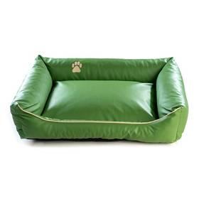 Argi pro psa obdélníkový EKO kůže - 70x55 cm / snímatelný potah zelený