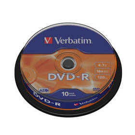 Verbatim DVD-R 4,7GB, 16x, 10-cake (43523)