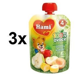 Hami ovocná kapsička Ovocný koktejl 90g x 3ks