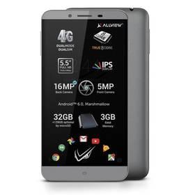 Allview V2 Viper S Dual SIM šedý SIM s kreditem T-Mobile 200Kč Twist Online Internet (zdarma)Software F-Secure SAFE, 3 zařízení / 6 měsíců (zdarma)