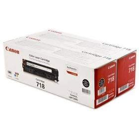 Canon CRG-718Bk, 2 x 3,4K stran - originální (2662B005) černý + Doprava zdarma