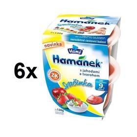 Hamánek svačinka jahoda s tvarohem 6x(2x130g)
