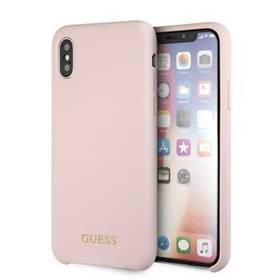 Guess Silicone Cover pro Apple  iPhone X/XS - světle růžový (GUHCPXLSGLLP)