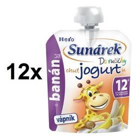 Sunárek Do ručičky s banány a jogurtem, 80g x 12ks