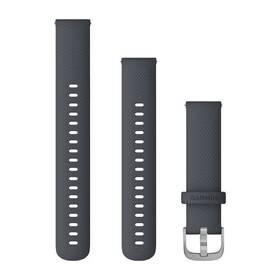 Garmin Quick Release 18mm pro Vivoactive4S, silikonový tmavě šedý, stříbrná přezka (010-12924-30) (vrácené zboží 8800751169)