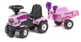 FALK - traktor Princess s volantem a valníkem plast
