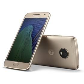 Motorola Moto G Plus 5.generace Dual SIM (SM4470AJ1N7 ) zlatý SIM s kreditem T-Mobile 200Kč Twist Online Internet (zdarma) + Doprava zdarma
