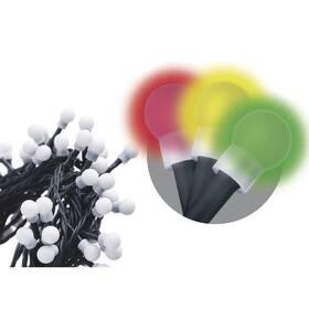 EMOS 80 LED vánoční cherry řetěz – kuličky, 8m, multicolor, programy (1534141530)