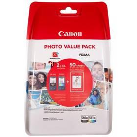 Canon PG-560XL + CL-561XL + 50ks fotopapír 10x15cm (3712C004)