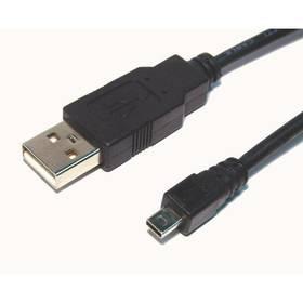 AQ Mini USB 8pin - USB 2.0 A kabel, M/M, 1,8 m (xaqcc65018) černá barva