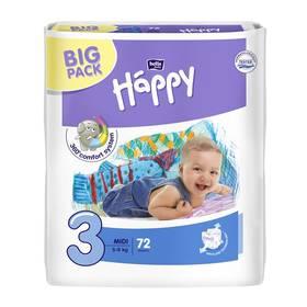Bella Baby Happy Midi Big Pack 72 ks Ubrousky čistící Bella Baby Happy hedvábí a bavlna 64 ks (zdarma)