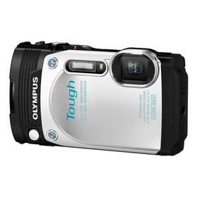 Olympus TG-870 bílý Paměťová karta Kingston MicroSDHC 16GB UHS-I U1 (45R/10W) + adapter (zdarma) + Doprava zdarma
