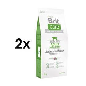 Brit Care Grain-free Adult Large Breed Salmon & Potato 2 x 12 kg + Doprava zdarma