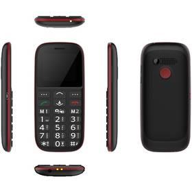 CUBE 1 F100 Dual SIM (F100) černý/červený