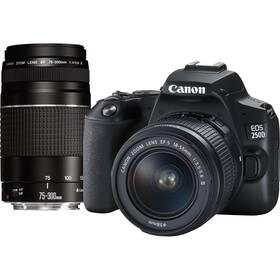 Canon EOS 250D + 18-55 DC + 75-300 DC (3454C016) čierny