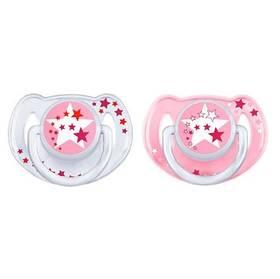 AVENT noční 6-18m bez BPA bílé/růžové