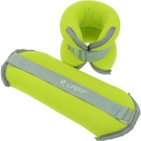 Neoprenová záťaž LIFEFIT ANKLE/WRIST WEIGHTS 2 x 1,5kg zelená
