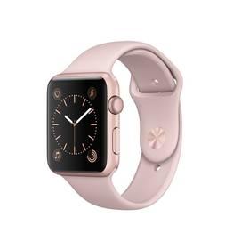 Apple Watch Series 1 42mm pouzdro z růžově zlatého hliníku – pískově růžový sportovní řemínek (MQ112CN/A) + Doprava zdarma