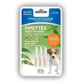 Pipeta Francodex repelentní štěně a malý pes 3 x 1 ml