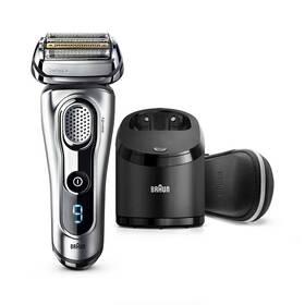 Braun Series 9 9291cc Clean&Charge Wet&Dry stříbrný