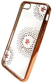 Beeyo Flower Dots pro Apple iPhone 5/5s/SE (BEAAPIP5TPUFLGO) zlatý