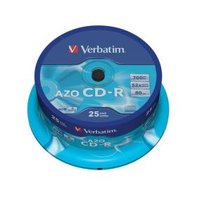 Verbatim CD-R 700MB/80min. 48x, Crystal, 25-cake (43352)