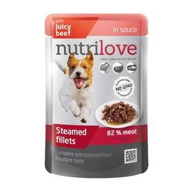 Nutrilove Dog pouch Beef gravy 28 x 85g