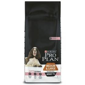 Purina Pro Plan MEDIUM & LARGE ADULT 7+ Sensitive Skin 14 kg + Doprava zdarma