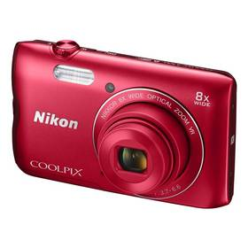 Nikon Coolpix A300 červený + Doprava zdarma