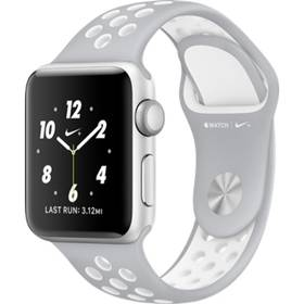 Apple Watch Nike+, 38mm Silver Aluminium Case with Flat Silver/White Nike Sport Band (MNNQ2CN/A) + Doprava zdarma