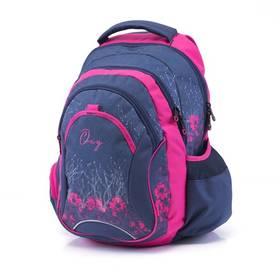 P + P Karton Anatomický batoh OXY Fashion Pink Flowers + Doprava zdarma