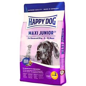 HAPPY DOG MAXI Junior GR 23 15 kg Konzerva HAPPY DOG Rind Pur - 100% hovězí maso 400 g (zdarma) + Doprava zdarma
