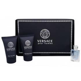 Versace Pour Homme EdT 5 ml + sprchový gel 25 ml + balzám po holení 25 ml dárková sada