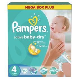 Pampers Active Baby-dry vel.4 Maxi, 147ks + Doprava zdarma