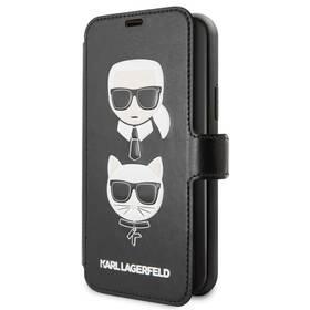 Karl Lagerfeld Cardslots Book pro Apple iPhone 11 (KLFLBKSN61FKICKC) černý