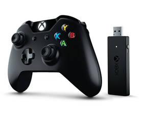 Microsoft Xbox One + bezdrátový adaptér pro Windows 10 (CWT-00003) černý