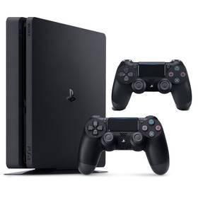 Sony PlayStation 4 SLIM 1TB + DualShock 4 (PS719887164) černý + Doprava zdarma