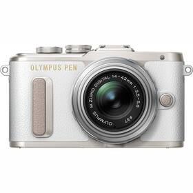 Olympus PEN E-PL8 + 14-42 EZ Pancake stříbrný/bílý