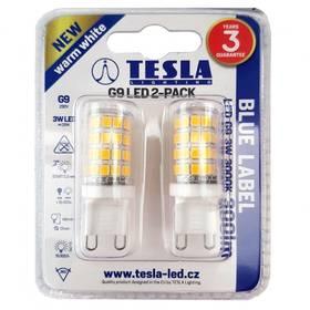 Tesla bodová, 3W, G9, teplá bílá (G9000330-PACK2)