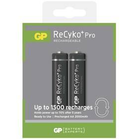 GP ReCyko+ Pro AA, HR6, 2000mAh, Ni-MH, krabička 2ks (1033212070)