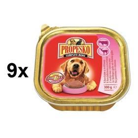 Vanička Propesko pes s hovězím a zvěřinou 9 x 300g