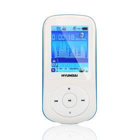 MP3 prehrávač Hyundai MPC 401 FM, 4GB biely/modrý
