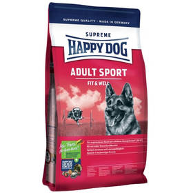 HAPPY DOG ADULT SPORT 15 kg, Dospělý pes Konzerva HAPPY DOG Rind Pur 400 g (zdarma) + Doprava zdarma