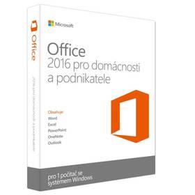 Microsoft Office 2016 CZ pro podnikatele pro 1 PC (T5D-02421)