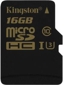 Kingston MicroSDHC 16GB UHS-I U3 (90R/45W) (SDCG/16GBSP) černá