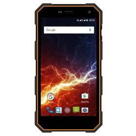 myPhone HAMMER ENERGY Dual SIM (TELMYAHAENEROR) černý/oranžový SIM s kreditem T-mobile 200Kč Twist Online Internet (zdarma) + Doprava zdarma