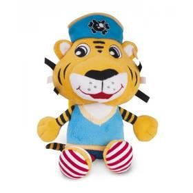 Canpol babies Pirates, plyšový vibrační tygr modré/žluté/zelené/růžové