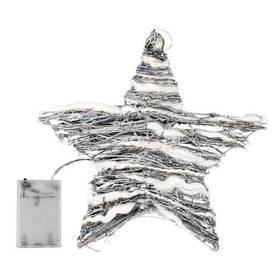 Vánoční osvětlení EMOS 30 LED, hvězda-ratan, denní bílá (*ZY1419)