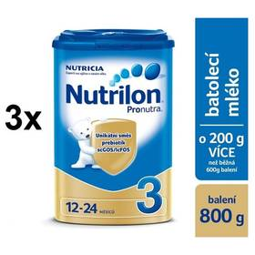 Nutrilon 3 Pronutra, 800g x 3ks + DÁREK + Doprava zdarma